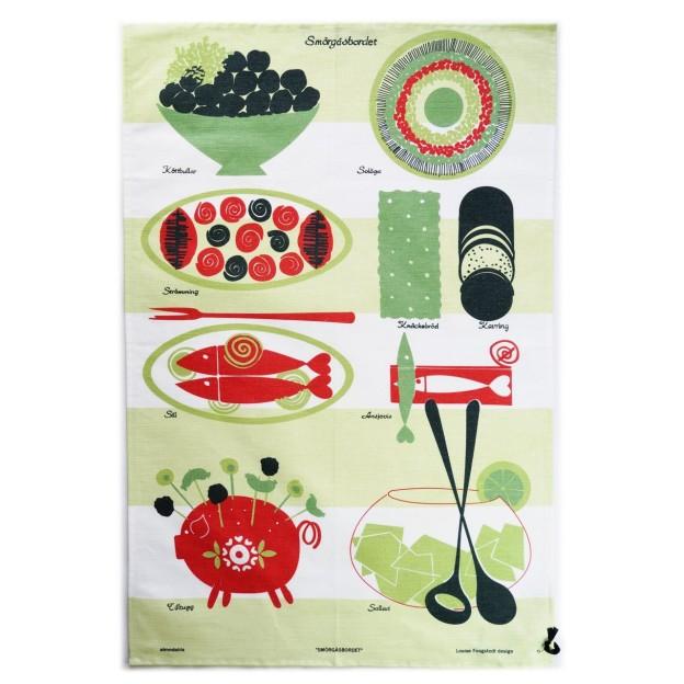 ティータオル-Smörgåsbordet-グリーン