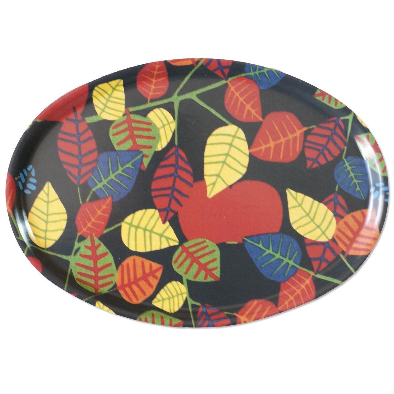 トレイ オーバル Apple(ブラック)31×22cm