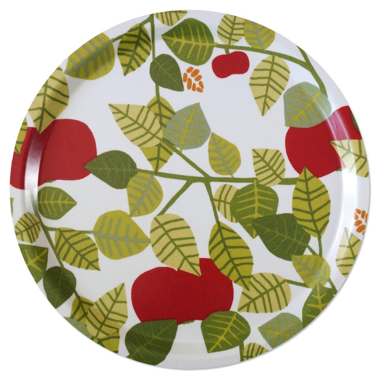 トレイ ラウンド 45cm Apple(グリーン)