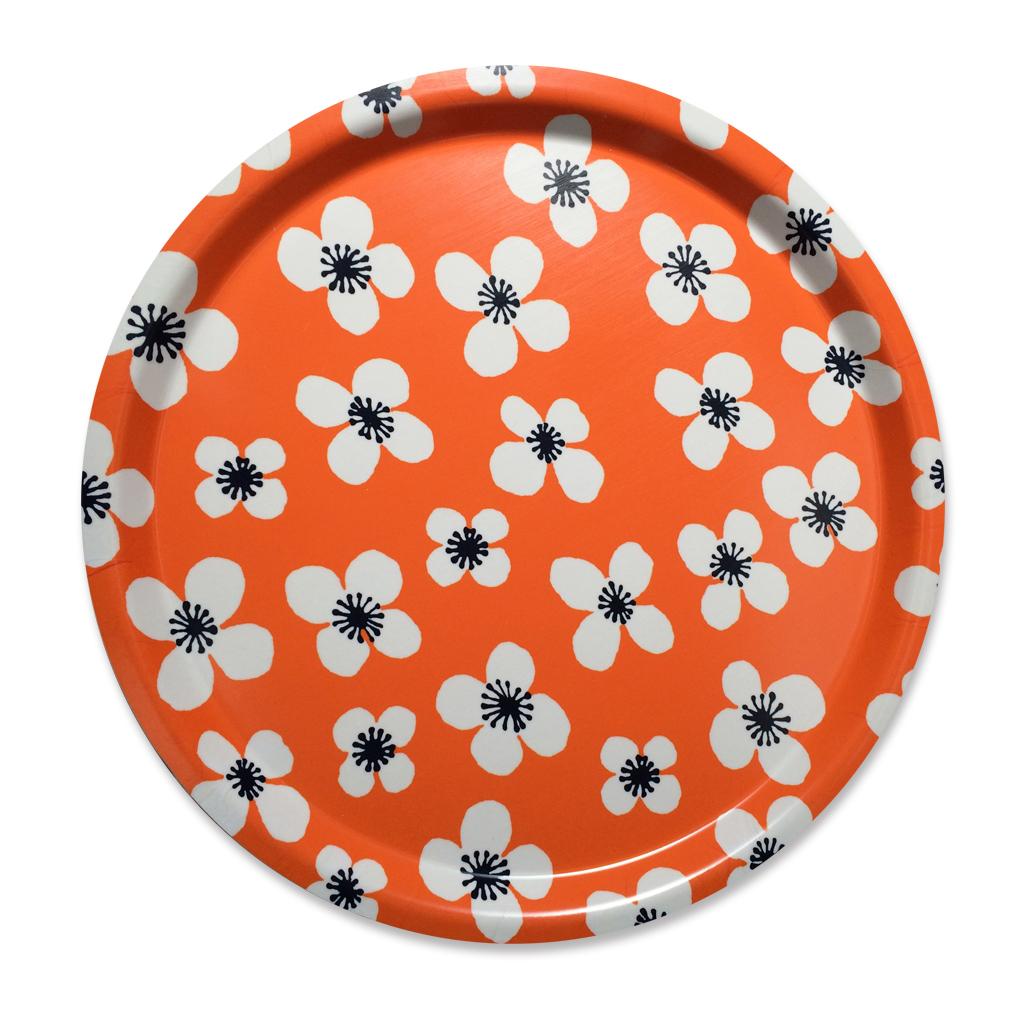 トレイ ラウンド 31cm Belle Amie オレンジ