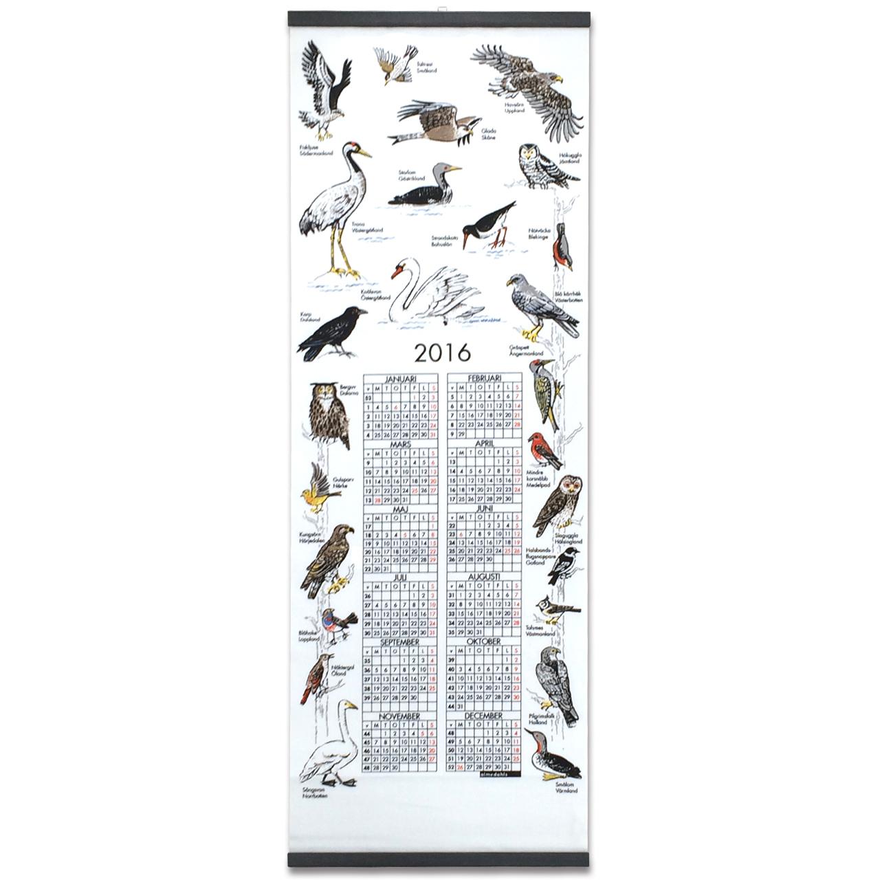 廃盤★2016カレンダー  Landskapsfåglar