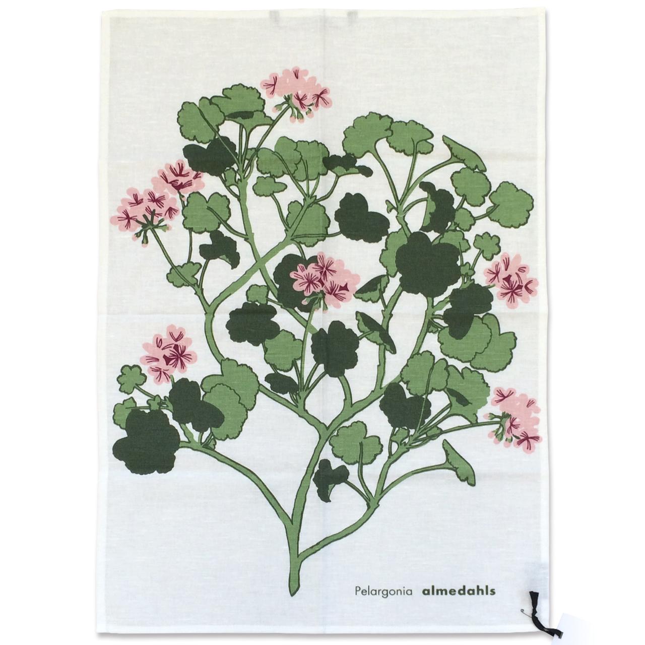 ティータオル Pelargonia ピンク