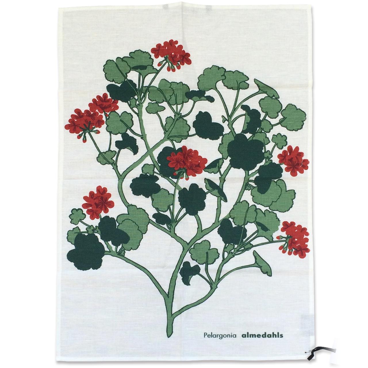 ティータオル Pelargonia レッド