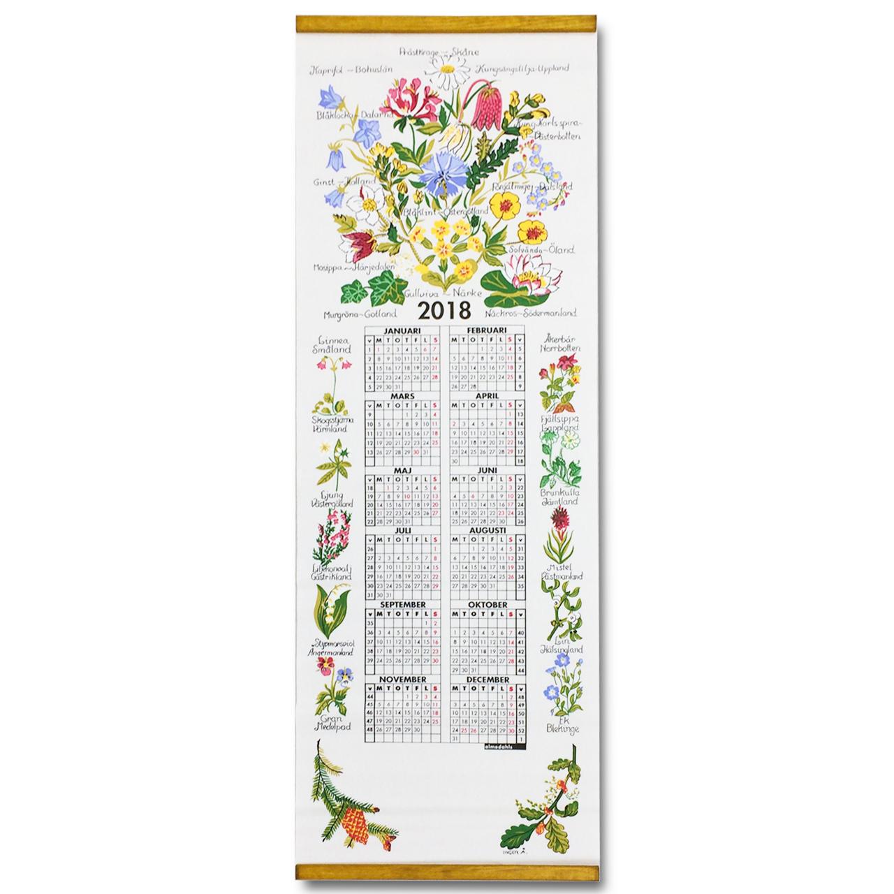 2018カレンダー  Landskap