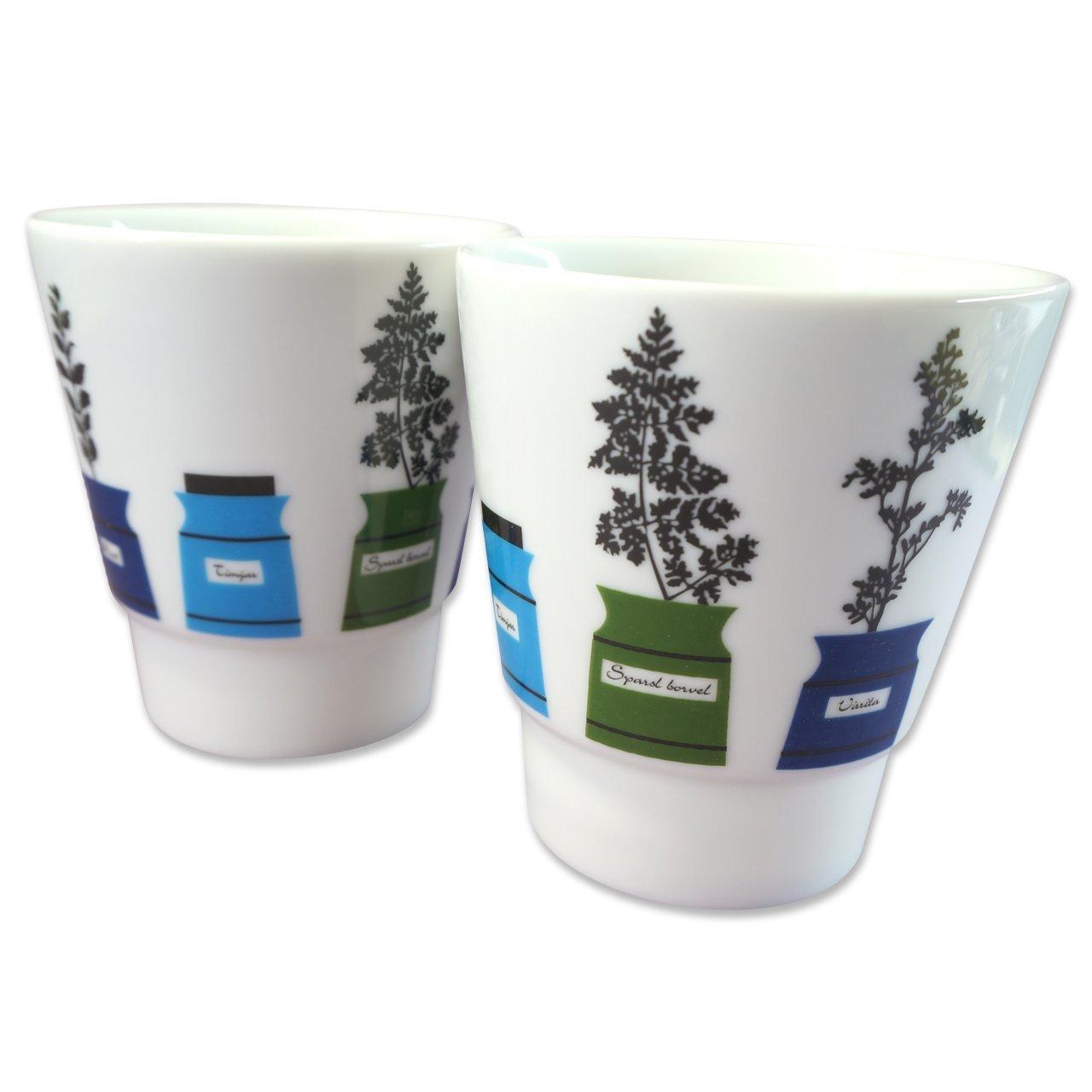 マグカップ2個セット Persons kryddskåp 直径8.7cm/高さ9.5cm