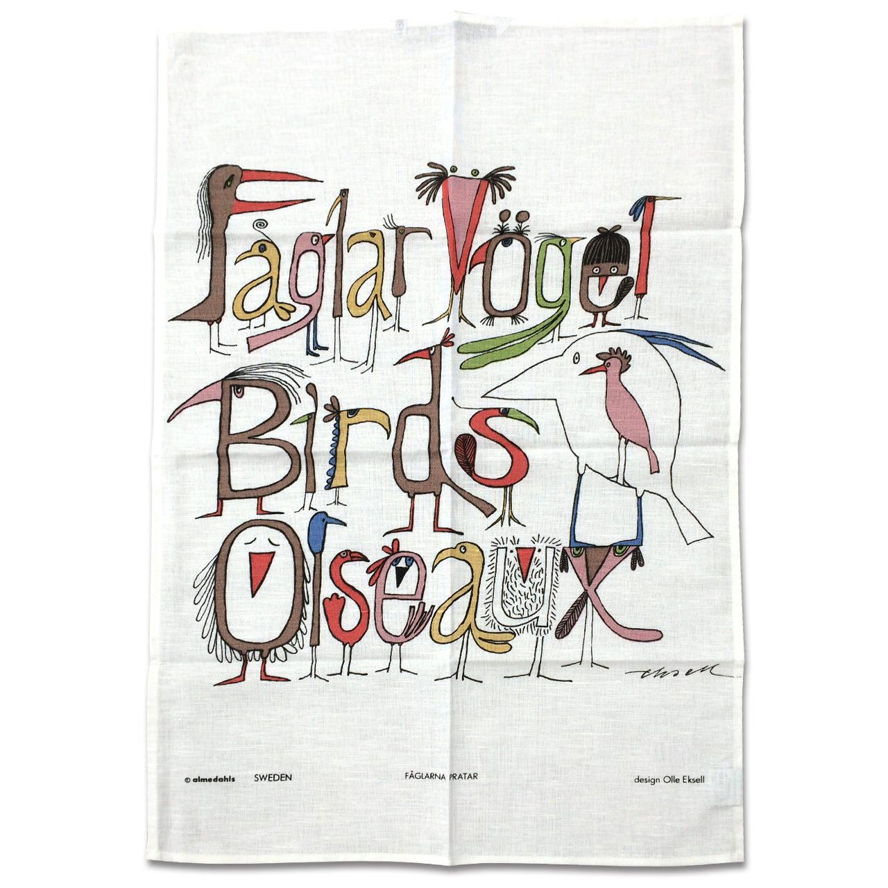 ティータオル Fåglarna berättar