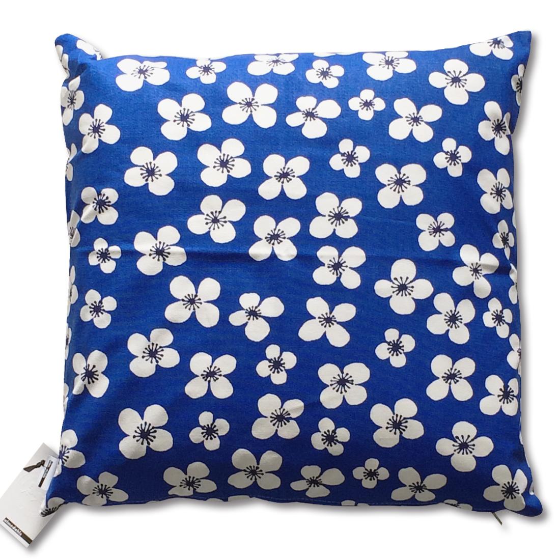 クッション Belle Amie ブルー 約45×45cm