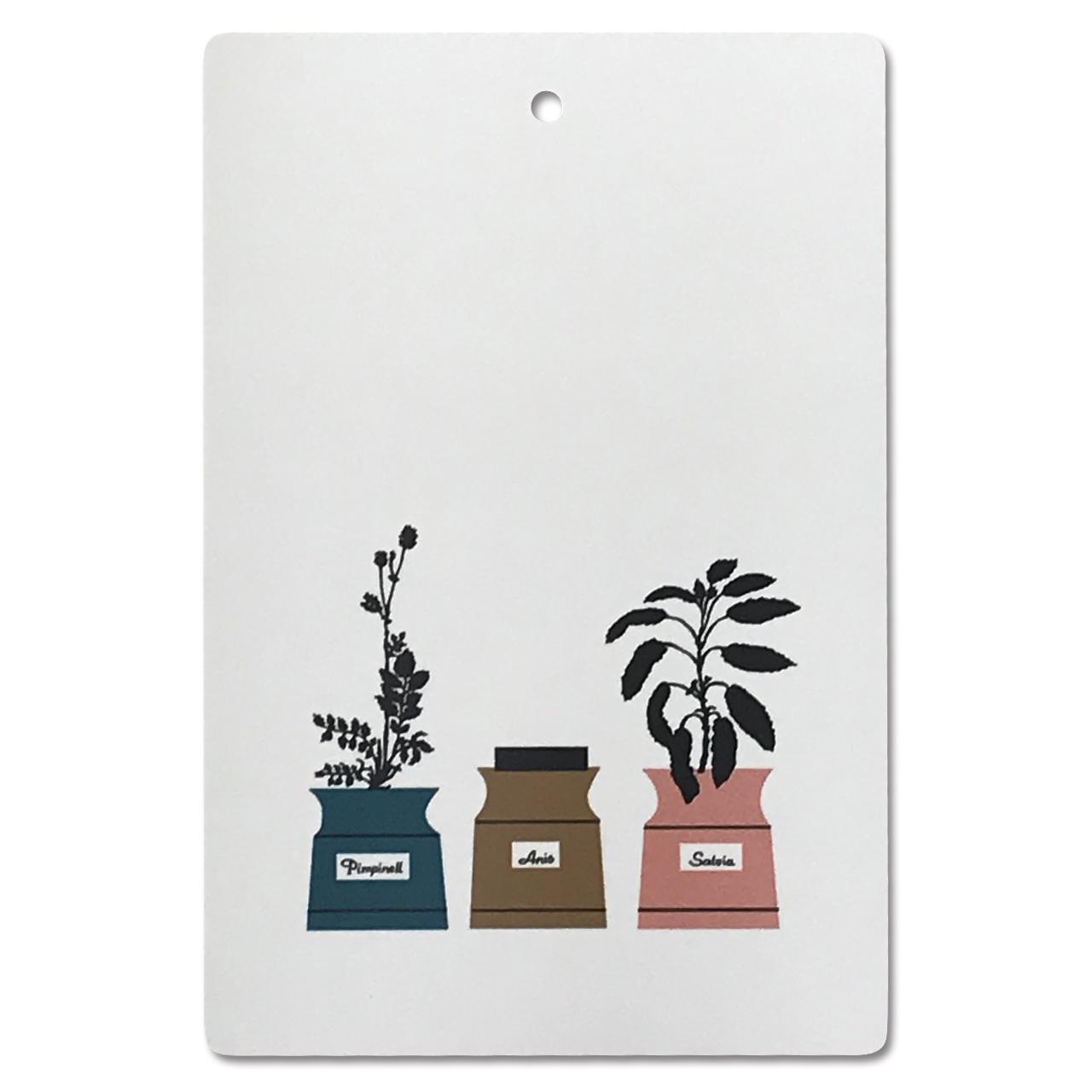 カッティングボード Persons kryddskåp 30×20cm グリーン/ピンク