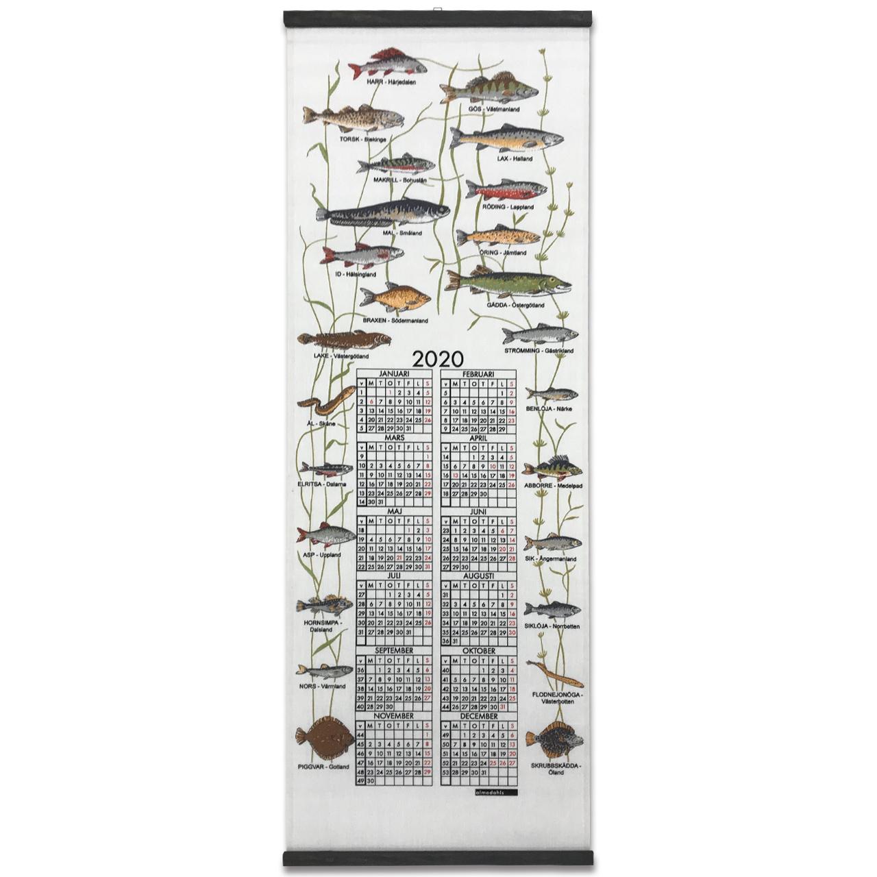 2020カレンダー  Landskapsfiskar
