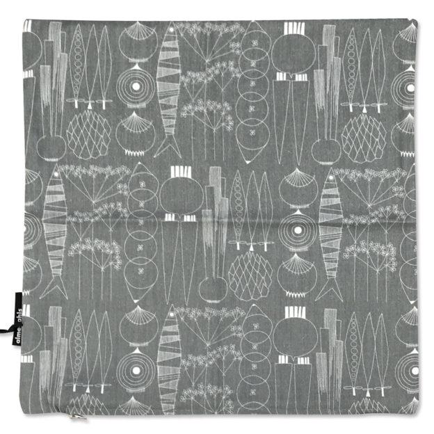 101738-0035-Picknick-クッションカバー-グリーングレー-45×45cm綿100%