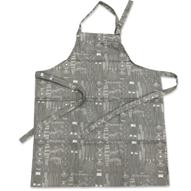 101734-0035-Picknick-エプロン-グリーングレー-綿100%